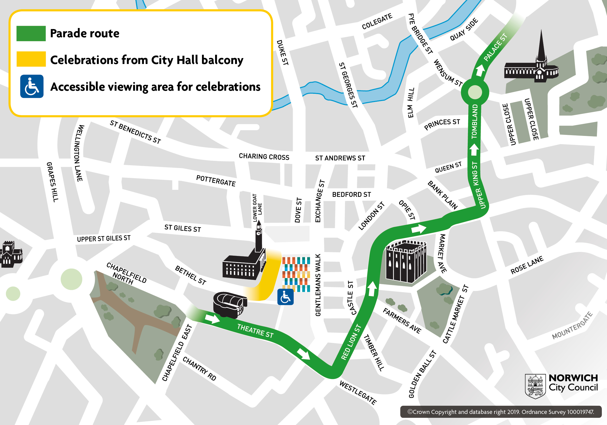 NCFC  parade route