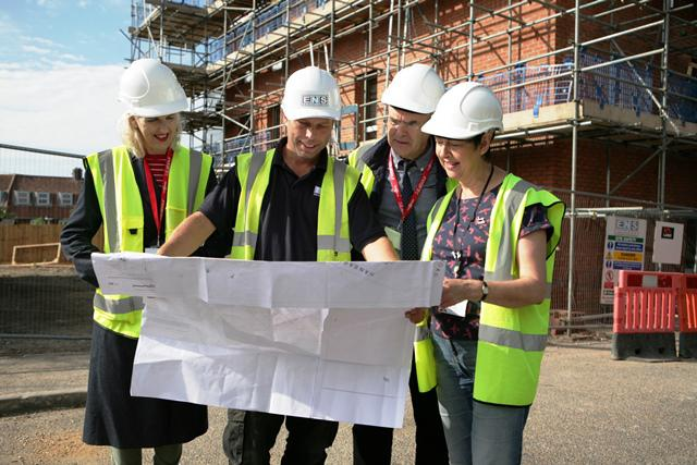 Councillors view plans for new homes