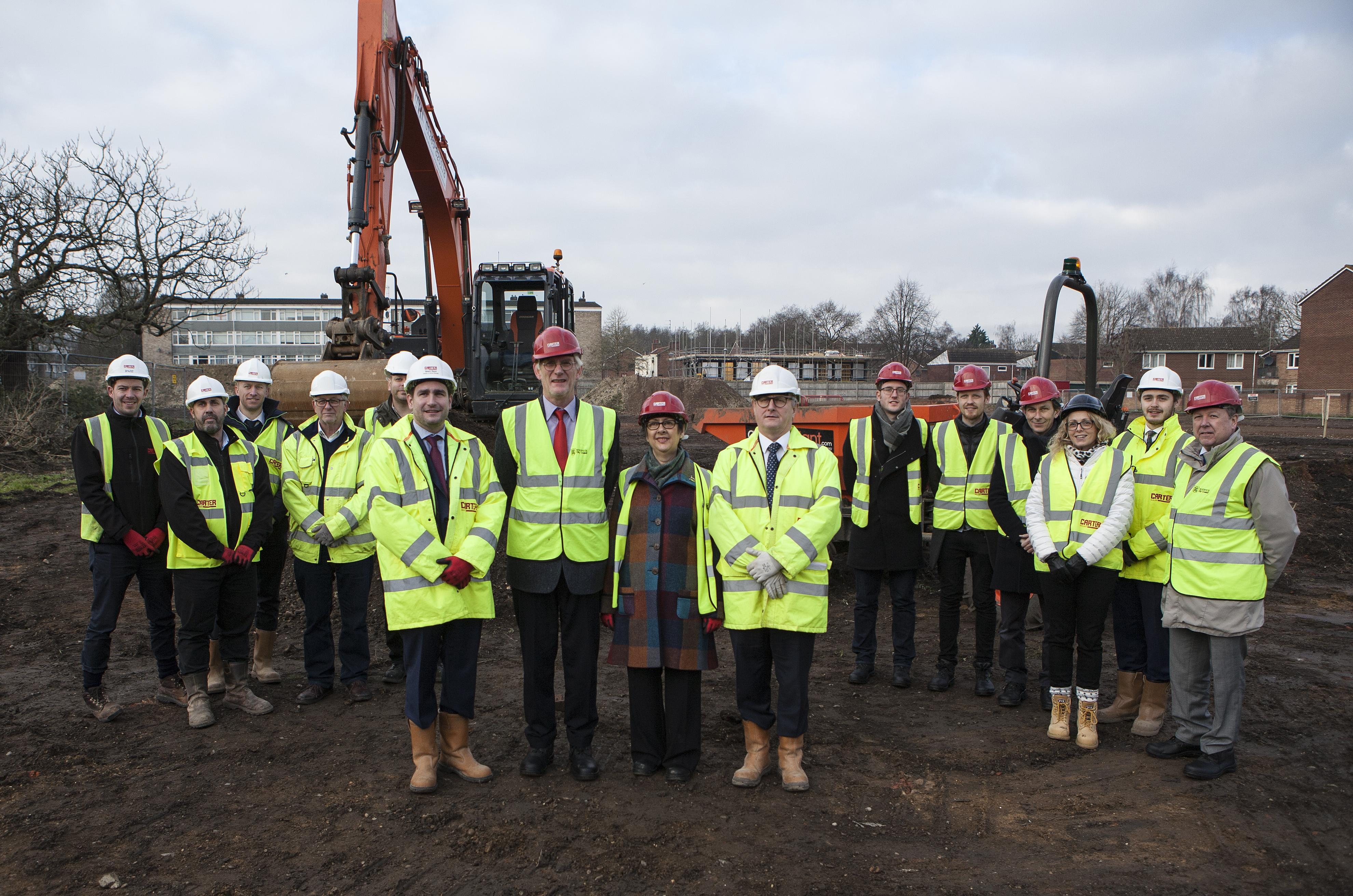 Councillors and staff pictured at Goldsmith Street.