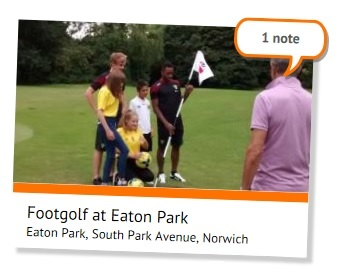 1 note for footgolf