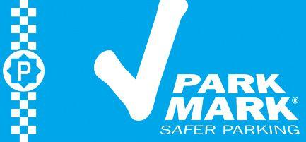 Park Mark tick symbol ensuring  safer parking