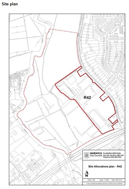 Site specific Allocation Land, Hall Road and land to the rear